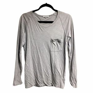 JAMES PERSE Double Layered Long Sleeve Tee Grey S